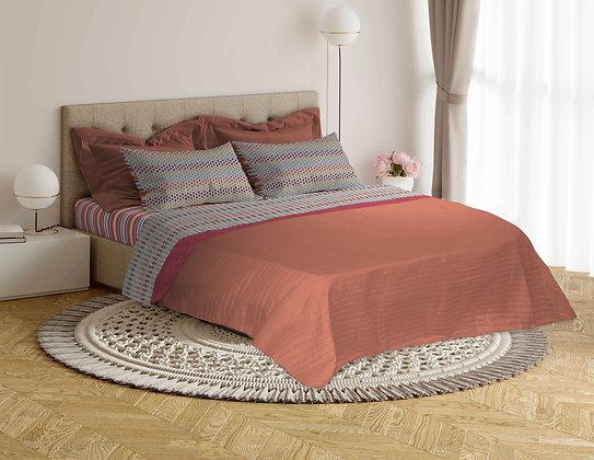 Completo letto in puro cotone pregiato 100%