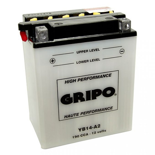 Batterie haute-performance YB14-A2 Gripo