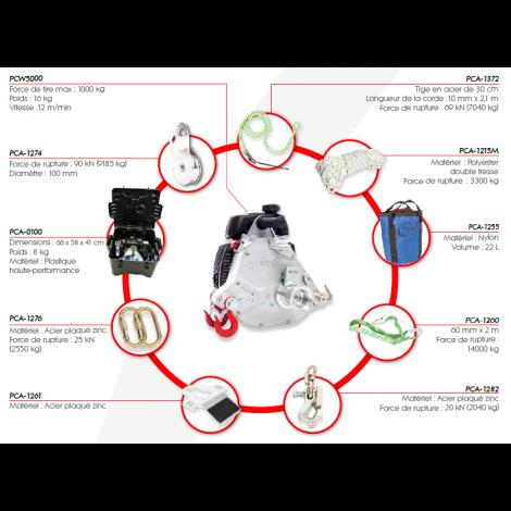 Treuil de tirage PCW5000-HK Chasse Portable Winch