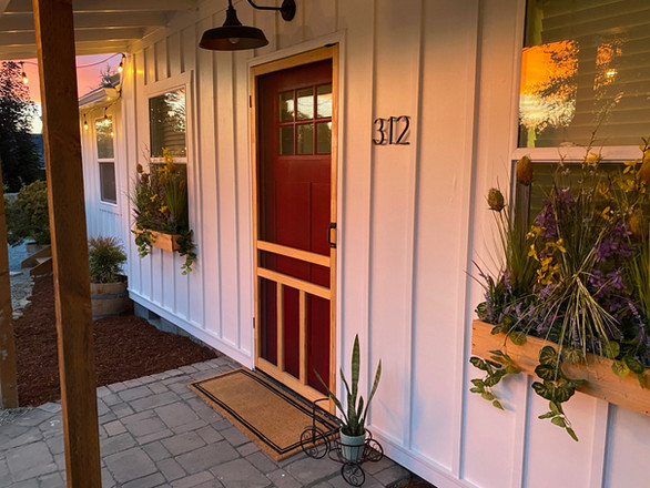Cuvee Cottage Front Door