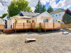Backyard with Deck and Room For Games