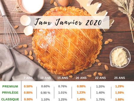 Taux d'intérêt Janvier 2020