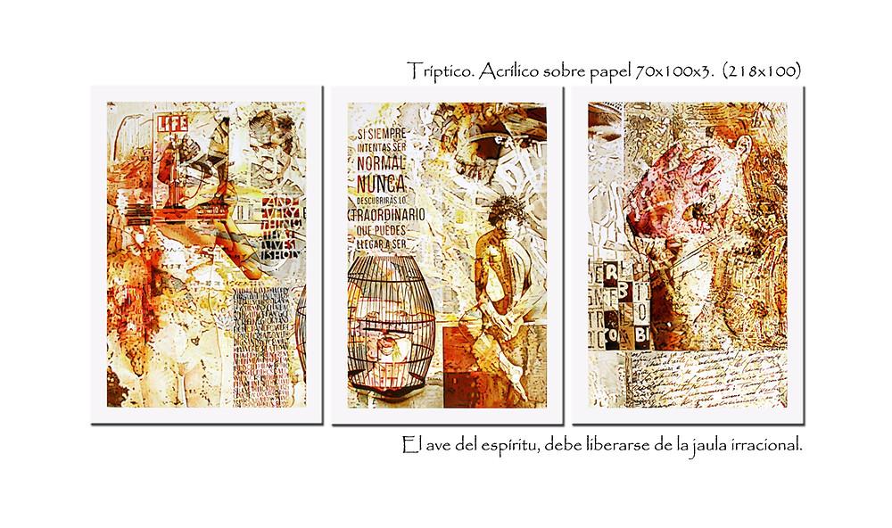 Acrílicos sobre papel 210x100