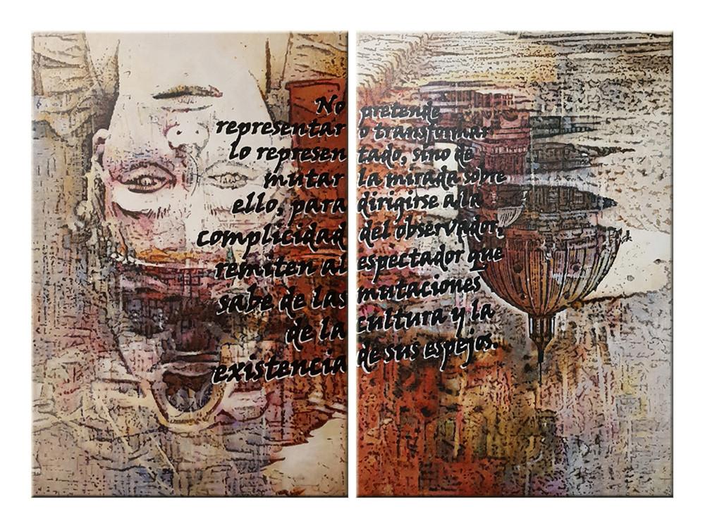 Díptico. Acrílico sobre lienzo 145x107