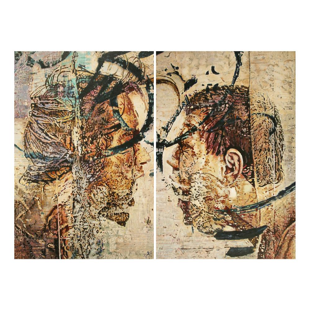 Acrílicos sobre lienzo 112x76. Dialogar en sodoma
