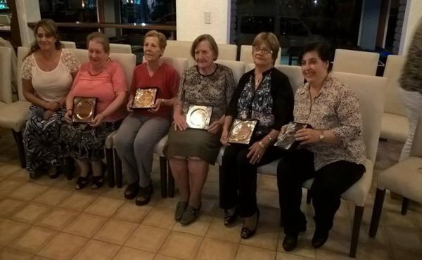 Mujeres homenajeadas con la Int. Adriana García
