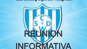 Reunión informativa del Club Social y Deportivo Winifreda