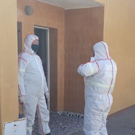 Bomberos de Winifreda colaboraron en accidente con monóxido de carbono en Eduardo Castex