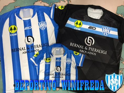 Deportivo Winifreda: Nueva campaña de camisetas oficiales para la venta