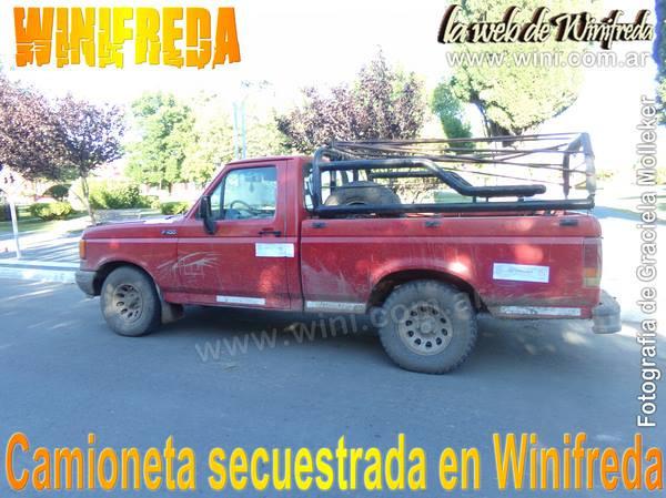 Camioneta secuestrada en Winifreda