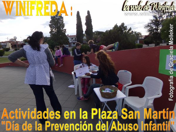 """Actividades en la Plaza San Martín por el """"Día de la Prevención del Abuso Infantil"""""""