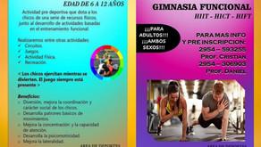 Winifreda: Gimnasia funcional para niños y niñas, y también para adultos