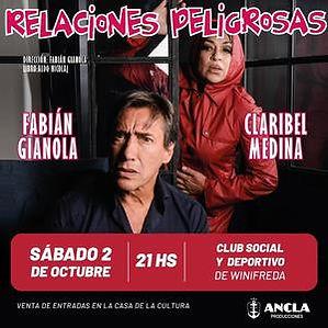 RELACIONES PELIGROSAS Fabián Gianola y Claribel Medina WINIFREDA.jpg