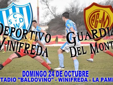 Deportivo Winifreda recibe a Guardia del Monte