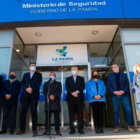 El Goberndor Ziliotto inauguró la nueva sede del Ministerio de Seguridad en General Pico