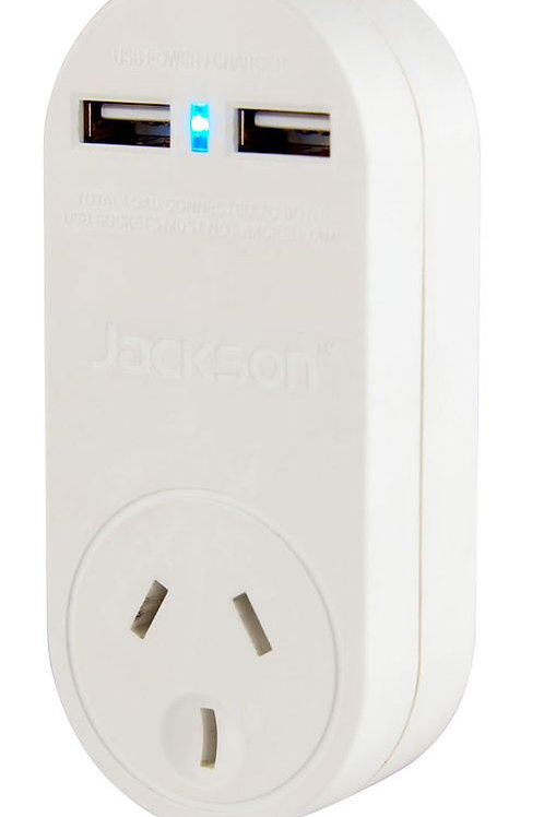 JACKSON Single Plug USB Wall Surge Protector
