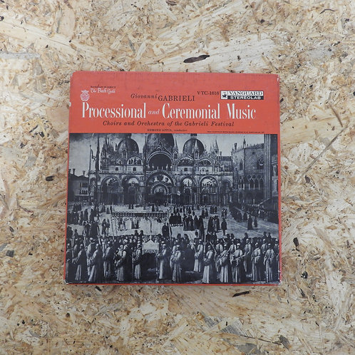 <再生確認済み>「 GABRIELI : PROCESSIONAL AND CEREMONIAL MUSIC 」 オープンリール 7号 ミュージック テープ