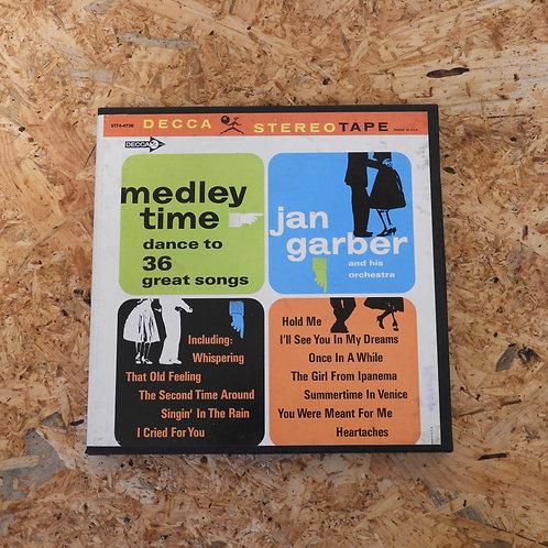 <再生確認済み>「 MEDLEY TIME 36 GREAT SONGS / JAN GARBER 」 オープンリール 7号 ミュージック テープ