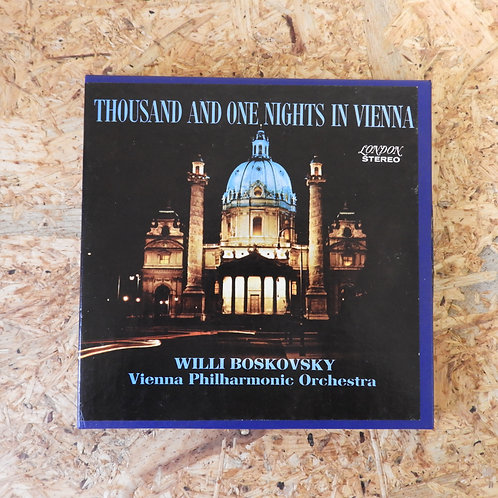 <再生確認済み>「 THOUSAND AND ONE NIGHTS IN VIENNNA / WILLI BOSKOVSKY 」 オープンリール 7号 テープ