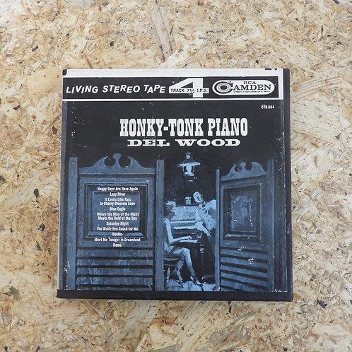 <再生確認済み>「 HONKY - TONK PIANO / DEL WOOD 」 オープンリール 7号 ミュージック テープ