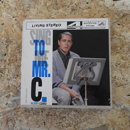 <再生確認済み>「 SING TO ME, MR.C / PERRY COMO 」 オープンリール 7号 ミュージック テープ