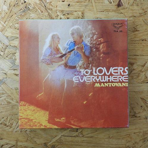 <再生確認済み>「 世界の恋人たちへ / マントヴァーニ 」 オープンリール 7号 ミュージック テープ