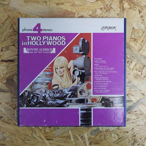 <再生確認済み>「 TWO PIANOS IN HOLLYWOOD / RONNIE ALDRICH 」 オープンリール 7号 ミュージック テープ