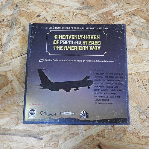 <再生確認済み>「 AMERICAN AIRLINES ASTROVISION POPULAR PROGRAM NO.35 」 オープンリール 7号 ミュージッ
