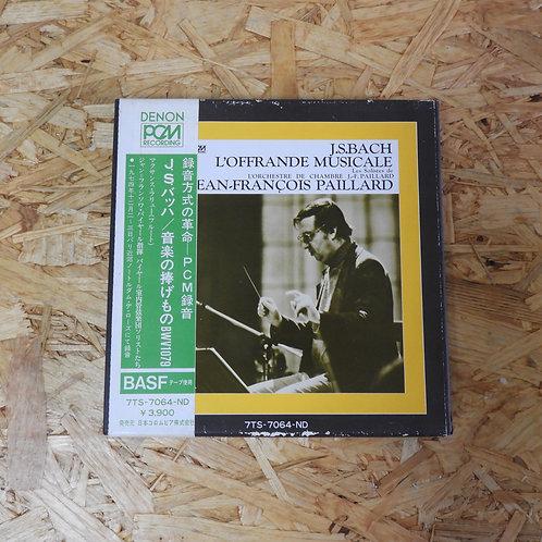 <再生確認済み>「 J.S.バッハ:音楽の捧げもの BWV 1079 」ジャン=フランソワ・パイヤール オープンリール 7号 ミュージック テープ