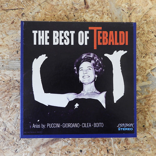 <再生確認済み>「 THE BEST OF TEBALDI / PUCCINI GIORDANO CILEA BOITO 」 オープンリール 7号 テープ