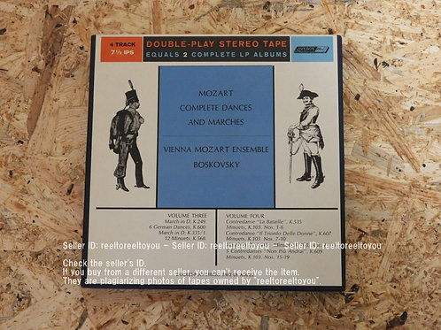 MOZART : COMPLETE DANCES AND MARCHES VOL.3 & 4 /  WILL BOSKOWSKY