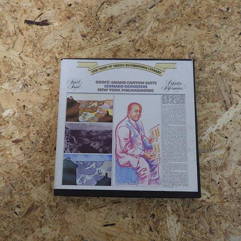 <再生確認済み>「 GROFE:GRANDE CANYON SUITE / LEONARD BERNSTEIN 」オープンリール 7号 ミュージック テープ