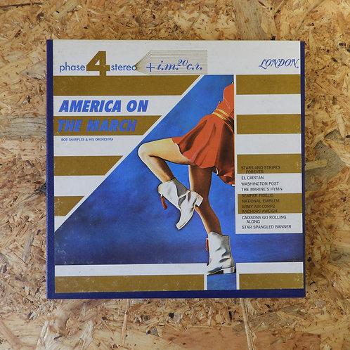 <再生確認済み>「 AMERICA ON THE MARCH / ROBERT SHARPLES AND HIS ORCH」 オープンリール 7号テープ