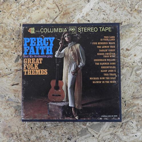 <再生確認済み>「 PERCY FAITH / GREAT FOLK THEMES 」 パーシー・フェイス オープンリール 7号 ミュージック テープ