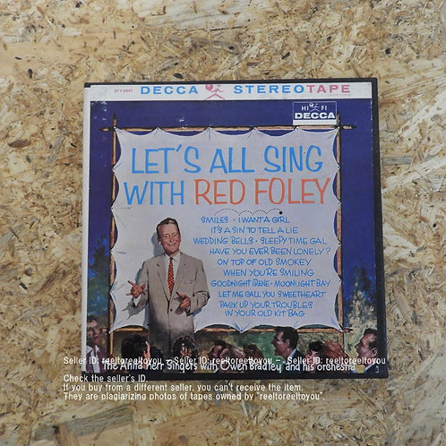 LET'S ALL SING WITH RED FOLEY