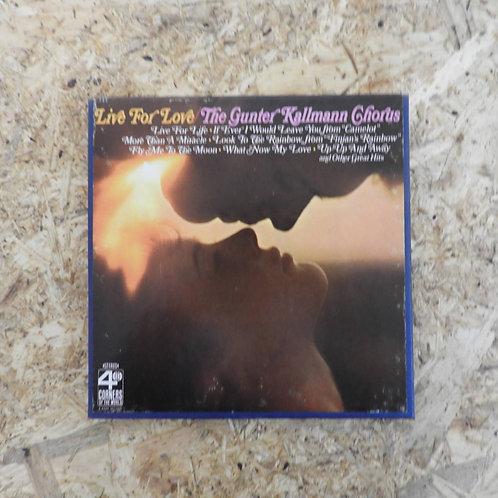 <再生確認済み>「 LIVE FOR LOVE / THE GUNTER KALLMANN CHORUS 」 オープンリール 7号 ミュージック テープ