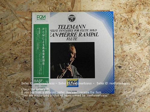 テレマン : 無伴奏フルートのための12の幻想曲集 / ジャン=ピエール・ランパル