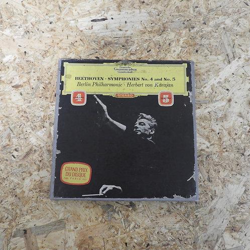 <再生確認済み>「 BEETHOVEN:SYMPHONIES NO.4 AND NO.5 」 オープンリール 7号 ミュージック テープ