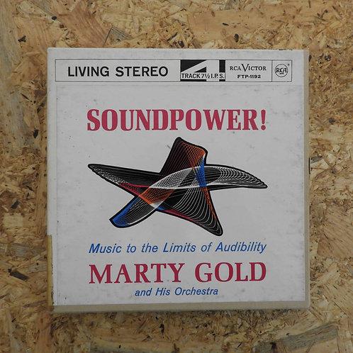 <再生確認済み>「 SOUNDPOWER ! ~ MARTY GOLD AND HIS ORCHESTRA 」 オープンリール 7号 ミュージック テープ