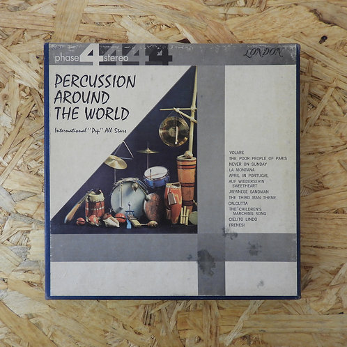 "<訳あり品>「 PERCUSSION AROUND THE WORLD / INTERNATIONAL ""POP"" ALL STARS 」 オープンリール 7号"