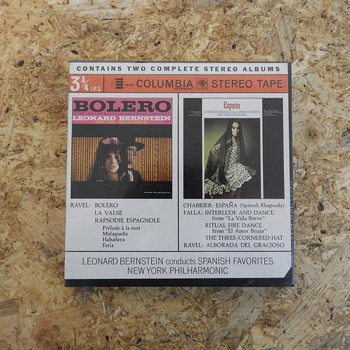 <未開封!>「 BOLERO : ESPANA / BERNSTEIN・NEW YORK PHILHARMONIC 」 バーンスタイン オープンリール 7号 ミ