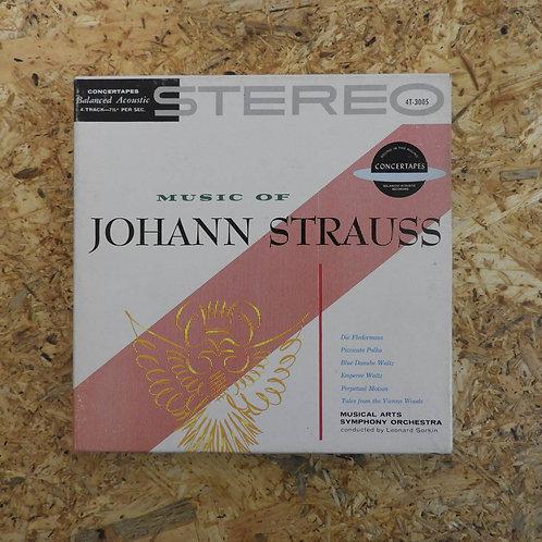 <再生確認済み>「 MUSIC OF JOHANN STRAUSS 」 シュトラウス オープンリール 7号 ミュージック テープ
