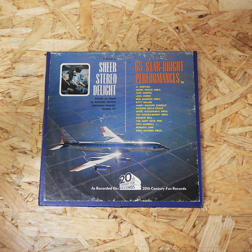 <再生確認済み>「 AMERICAN AIRLINES ASTROVISION POPULAR PROGRAM NO.10 」 オープンリール 7号 ミュージッ