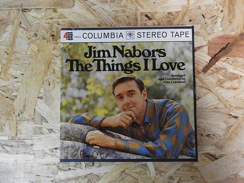 <再生確認済み>「 JIM NABORS / THE THINGS I LOVE 」 オープンリール 7号 ミュージック テープ