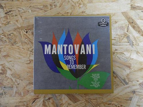 <再生確認済み>「 SONGS TO REMEMBER / MANTOVANI 」 マントヴァーニ オープンリール 7号 ミュージック テー