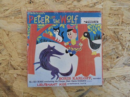 <再生確認済み>「 PETER AND THE WOLF / LIEUTENANT KIJE - BORIS KARLOFF 」 オープンリール 7号 ミュージ