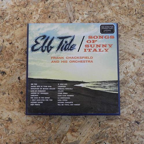 <再生確認済み>「 SONGS OF SUNNY ITALY / EBB TIDE FRANK CHACKSFIELD 」 オープンリール 7号 ミュージック