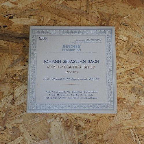<再生確認済み>「 J.S. バッハ : 音楽の捧げもの BWV-1079 / カール・リヒター 」 オープンリール 7号 ミュージック テープ