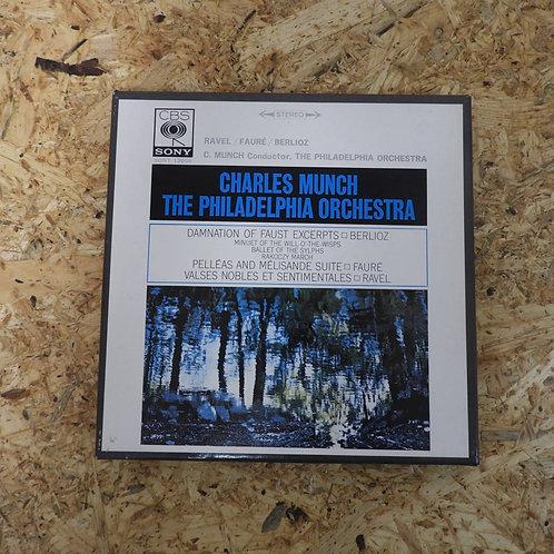 <再生確認済み>「 RAVEL,FAURE,BERLIOZ / CHARLES MUNCH THE PHILADELPHIA ORCHESTRA 」 オープンリ