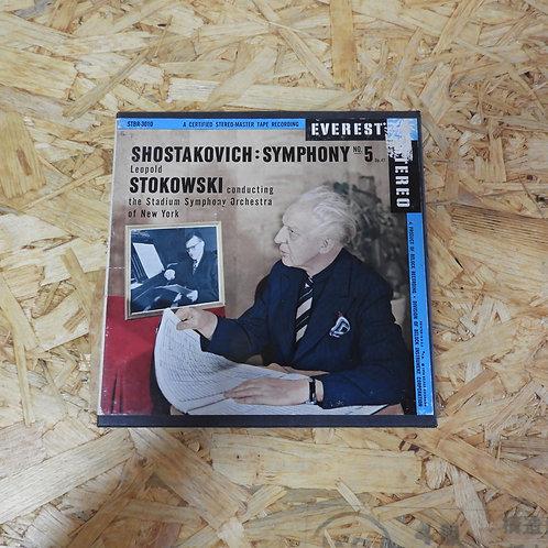 <再生確認済み>「 SHOSTAKOVICH : SYMPHONY NO.5 / LEOPOLD STOKOWSKI 」 オープンリール 7号 ミュージック テ
